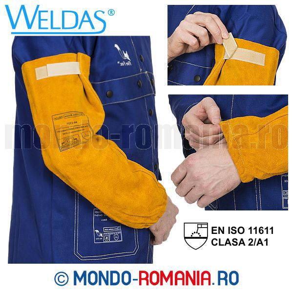 Cotiere sudura Kevlar WELDAS Golden Brown - Echipament sudor